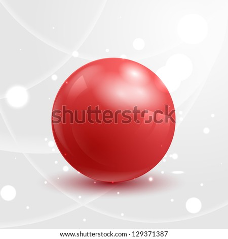 abstract red glossy sphere