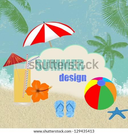 retro summer design grunge