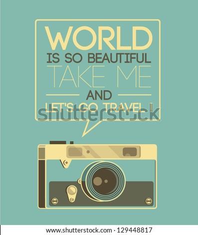 vintage photo camera says