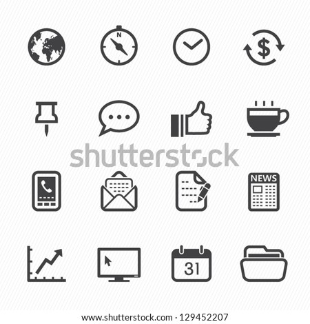 business and office icons with