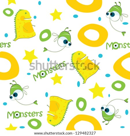 vector background monsters
