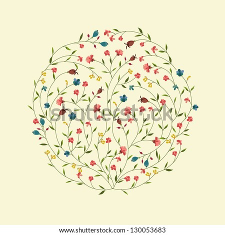 stock-vector-abstract-circle-with-flowers