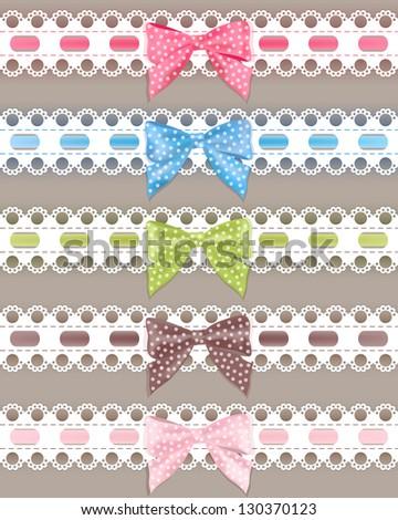 set colorful ribbon vector