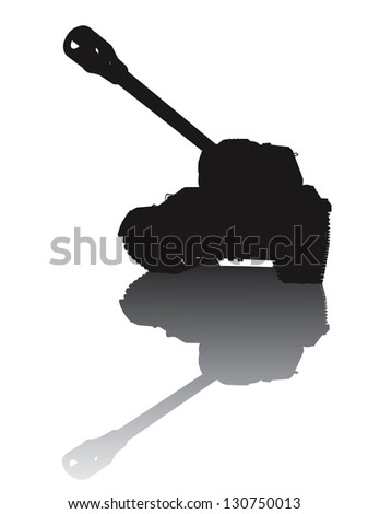 ww2 tank vector silhouette with
