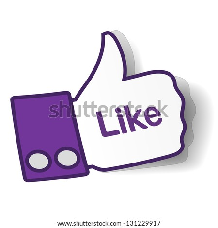 thumbs up paper sticker used in