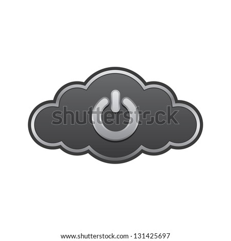 cloud with power icon