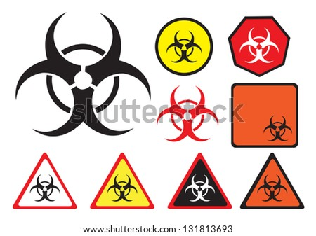 biohazard vector icon in
