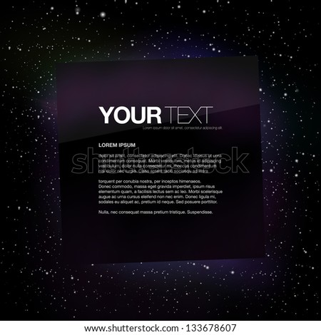 abstract square text box