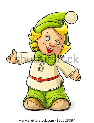 little gnome boy vector