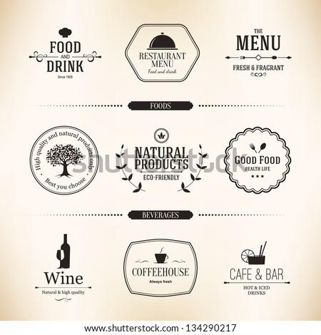 label set for restaurant menu