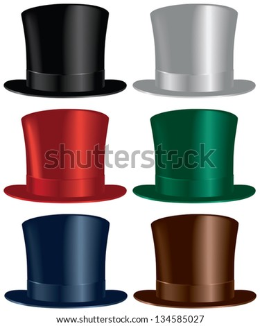 a top hat selection in black
