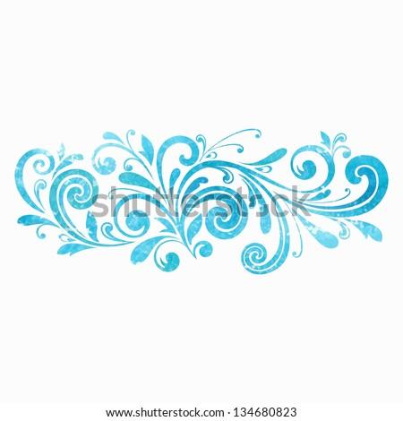 stock-vector-floral-design-element-watercolor-pattern