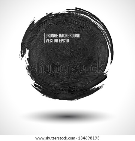 grunge vector background round
