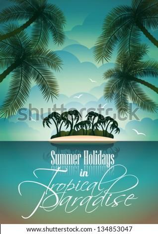 vector summer holiday flyer