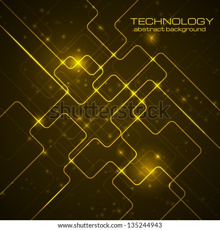 abstract technology dark orange