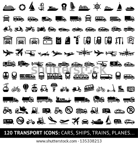 120 transport icons  cars