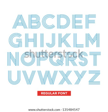 typography type font stripes