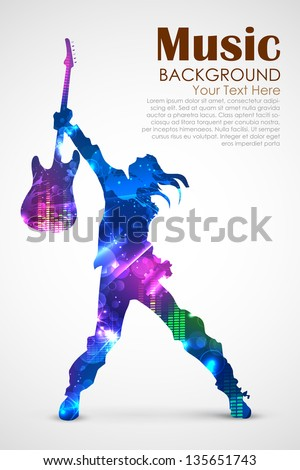 illustration of rock star with