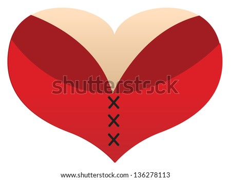 love heart boobs