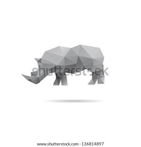 rhino isolated on a white