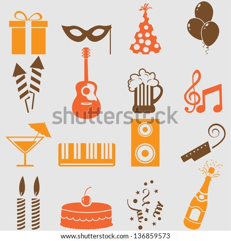 party icons setvector