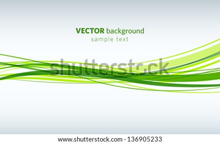 green lines abstract vector