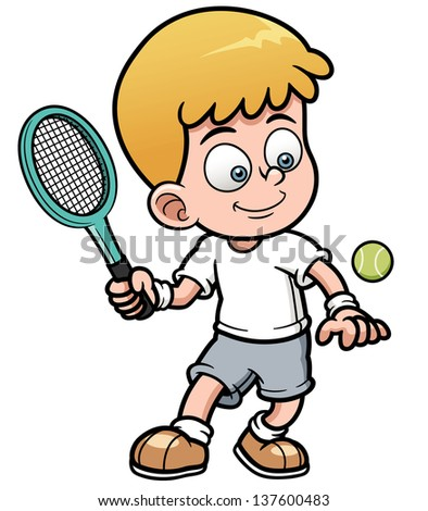 vector illustration of tennis