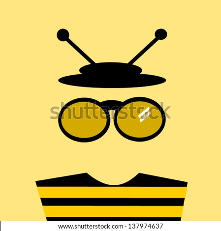 bee man wearing hat and glasses