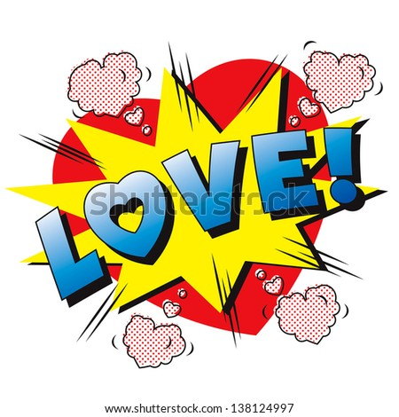 love cartoon explosion falling