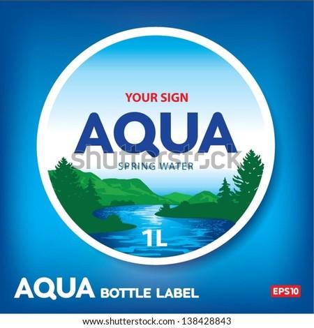 aqua bottle label
