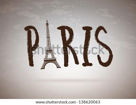 paris label over vintage