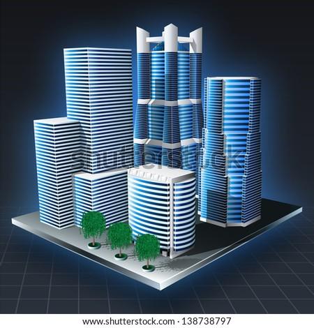 cityscape landscape vector