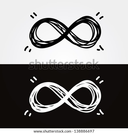 vector hand draw infinity