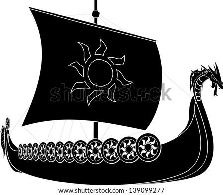 viking ship stencil second
