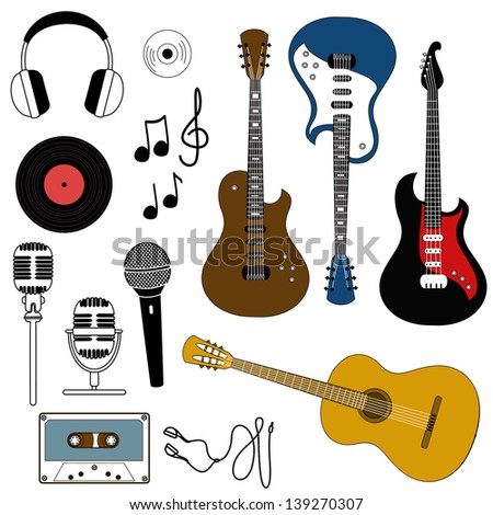 isolated icon of musical