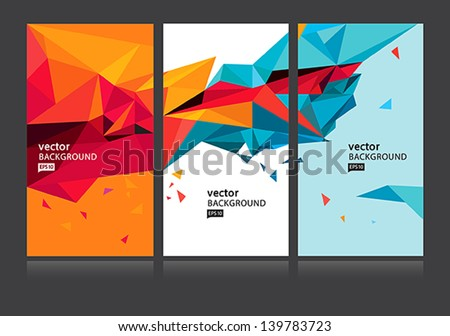 vector abstract background set