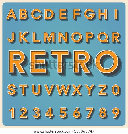 retro type font  vintage