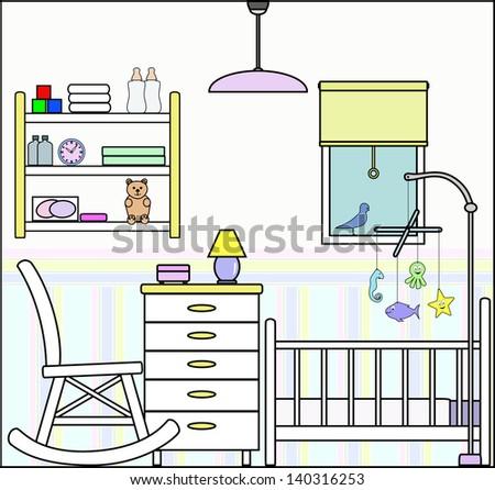 nursery bedroom with fittings