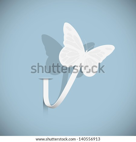 paper butterfly vector eps10