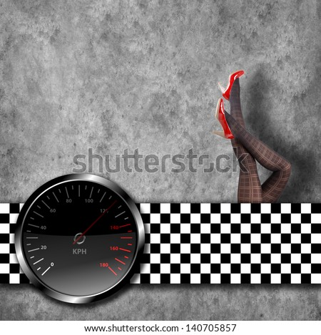 speedometer background with