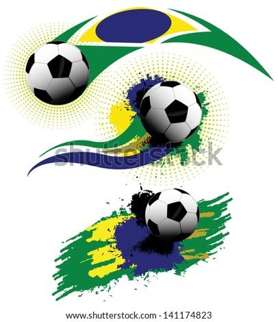 brazil soccer grunge