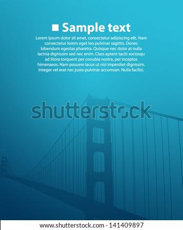 bridge on the blue background