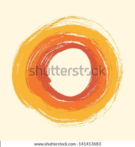round grunge frame artistic