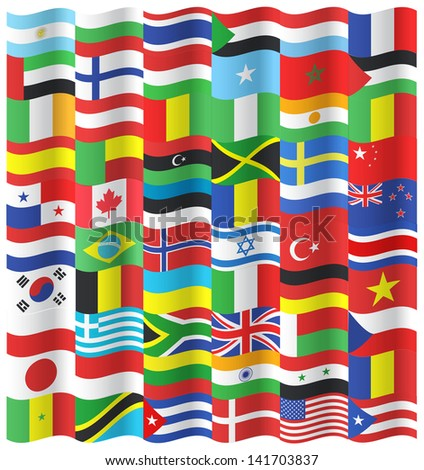 collection of wave flags