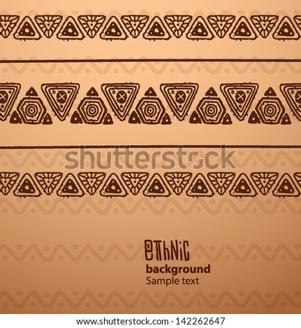 ethnic triangle pattern