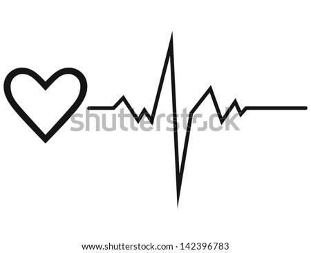 life line symbol heart