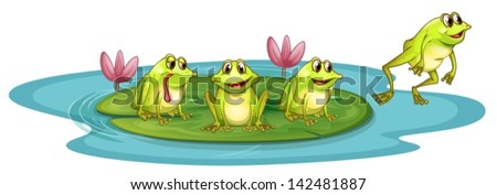 illustration of the frogs in