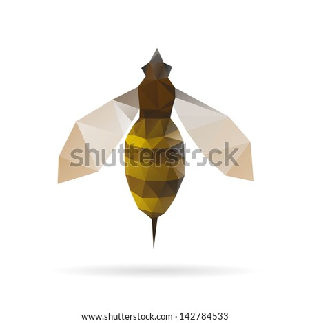 bee abstract isolated on a