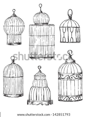 set of different cages  hand