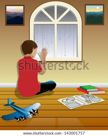 vector illustration of a boy